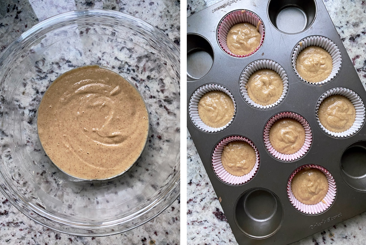 This easy Paleo vanilla cupcake recipe is grain free, dairy free, refined sugar free and even nut free! They are made with tigernut flour, lightly sweetened and perfect for a healthy gluten free dessert. These are the best tasting, fluffy, moist Paleo cupcakes. #tigernut #tigernutflour #paleomuffins #cupcakes
