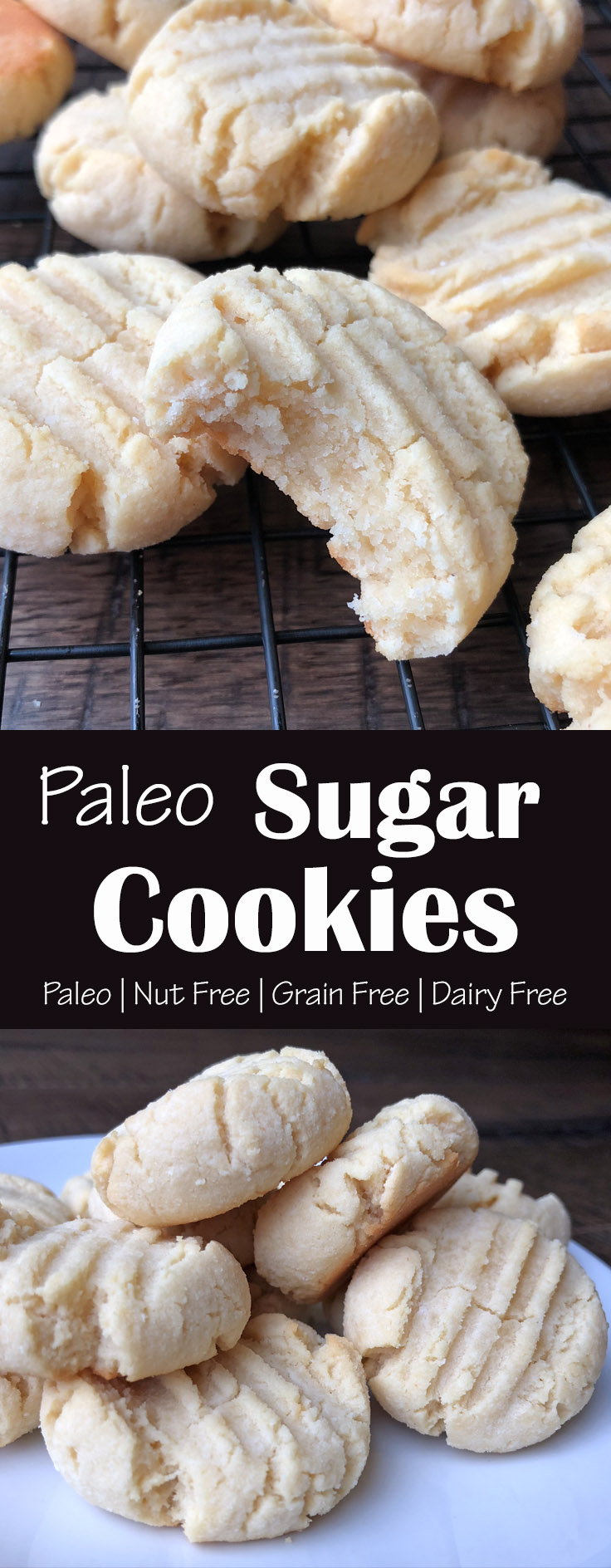 Nut Free Paleo Sugar Cookies with Collagen