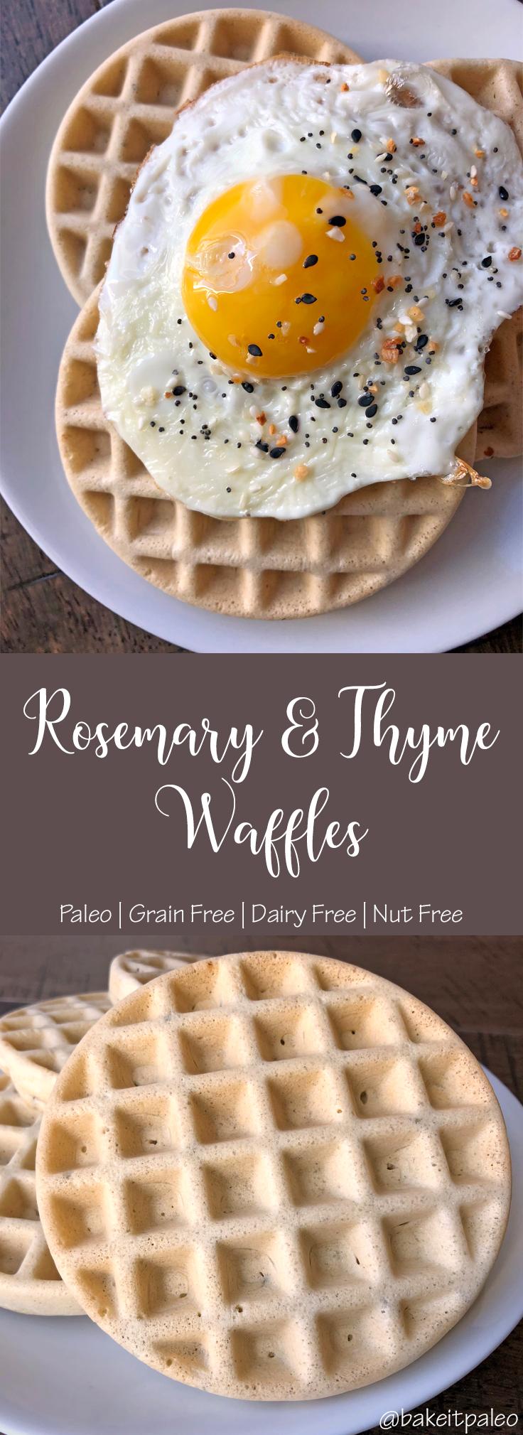 Savory Rosemary & Thyme Paleo Waffles