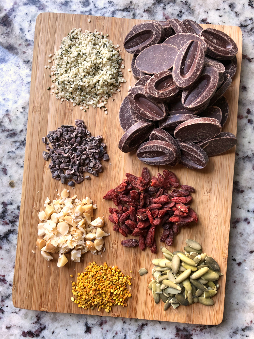 Ingredients in Superfood Bark