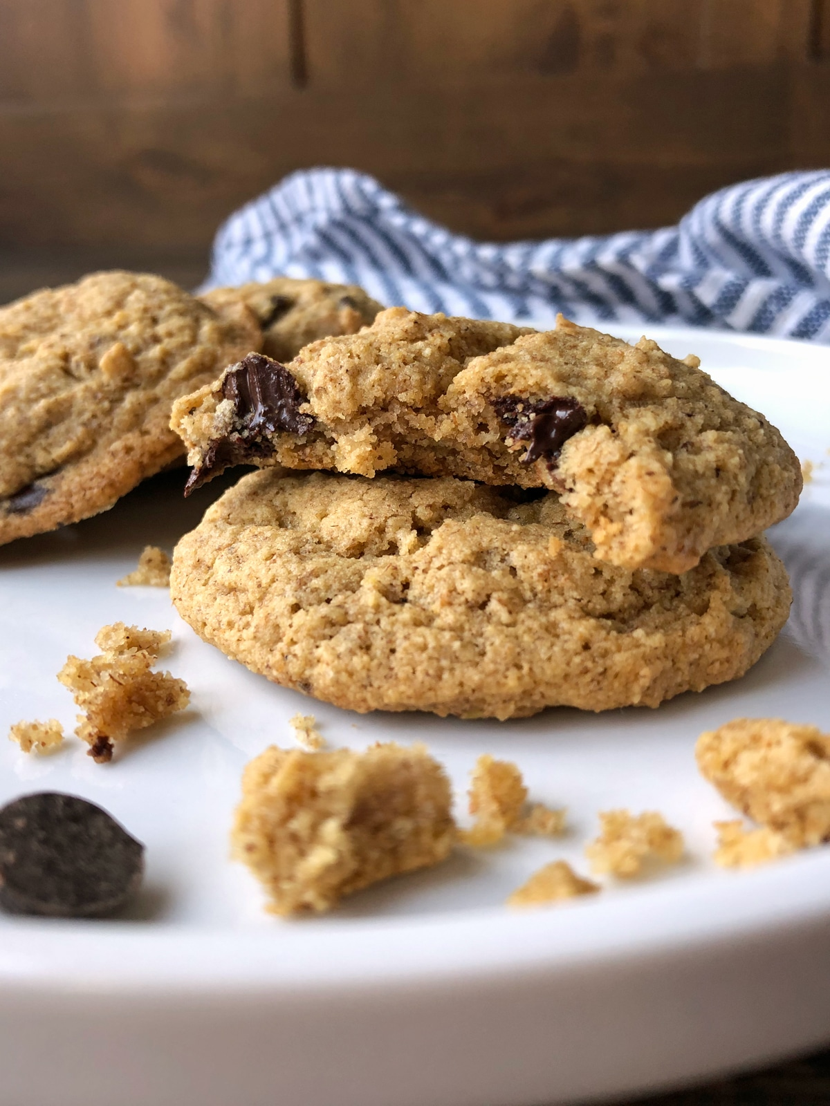 The most popular Paleo cookies always seem to be made with almond flour. But, I like to be different. I don't want all my recipes to contain nuts and I really like tigernut flour (it has a nutty, naturally sweet flavor and is allergy friendly). I also wanted to take this recipe a step further and create a Paleo cookie that was not only nut free but also egg free. Thus, these Paleo, Vegan AND allergy free Tigernut Flour Chocolate Chip Cookies were born!