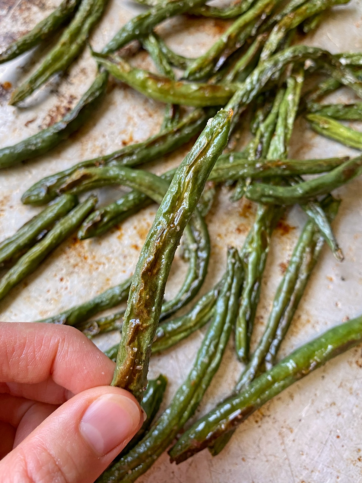 crispy garlic green beans