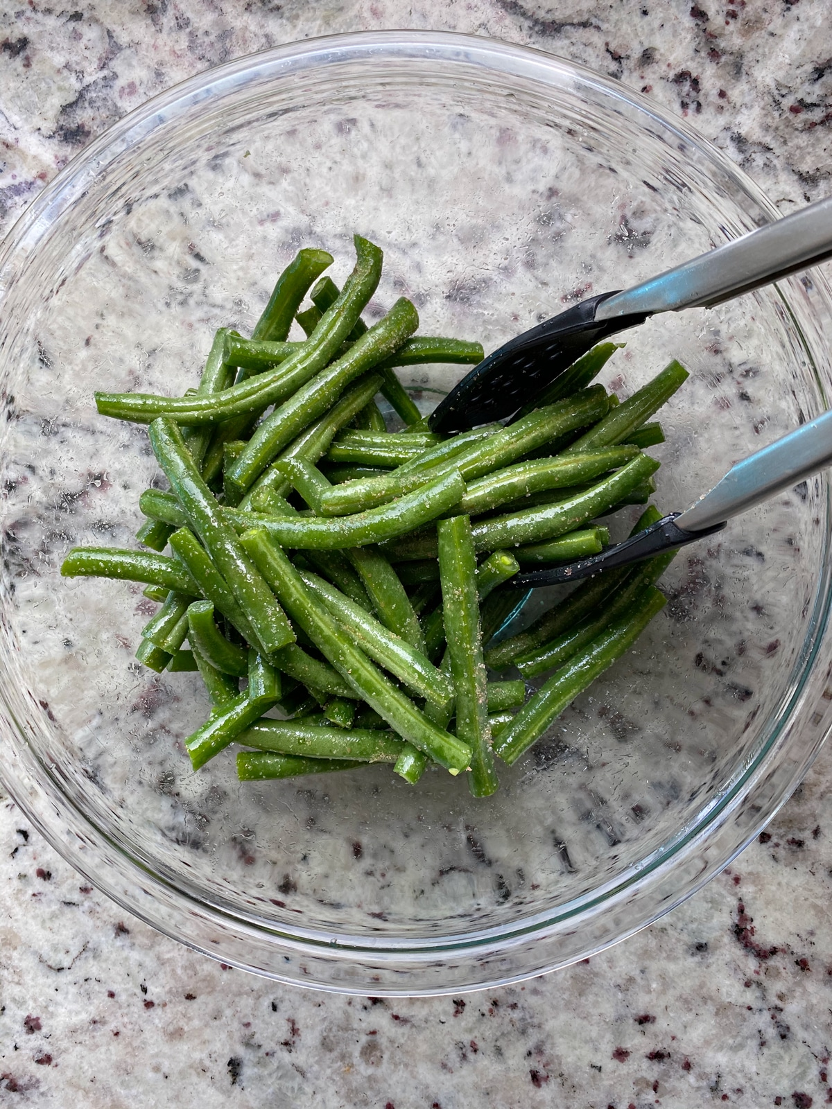 seasoning the green beans