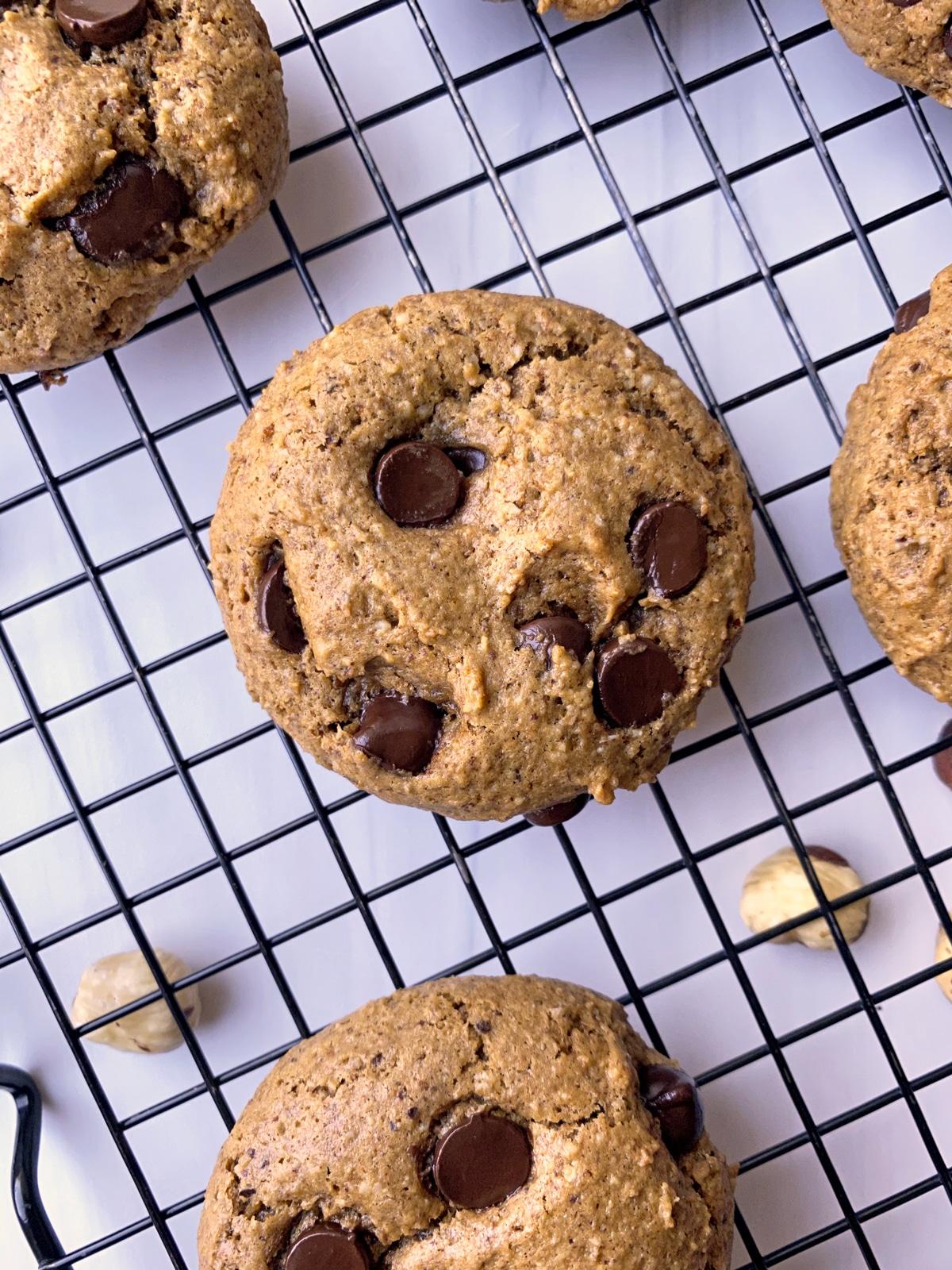 paleo and keto cookies made with hazelnut flour