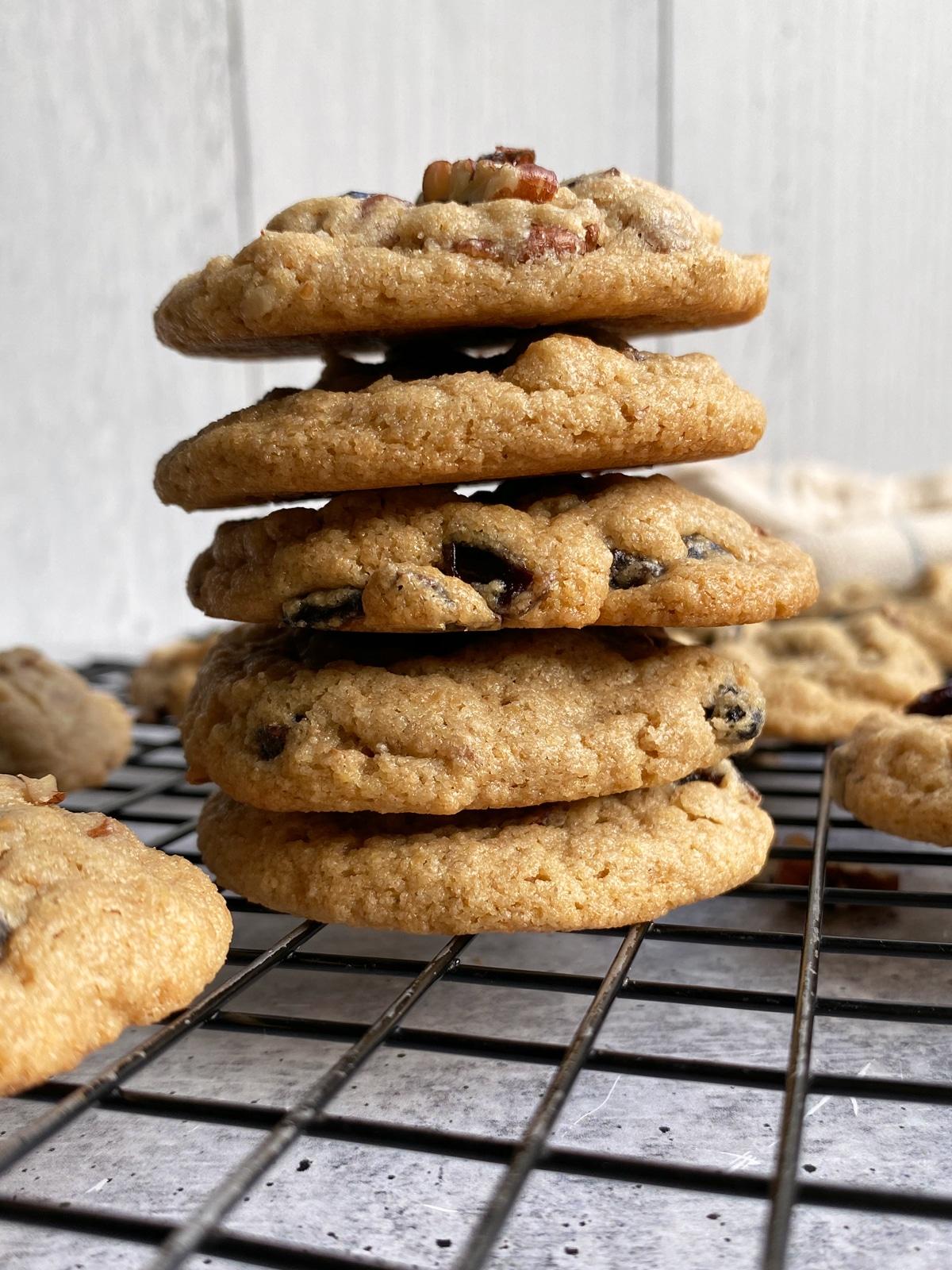 stack-of-Paleo-Tahini-Pecan-Cookies
