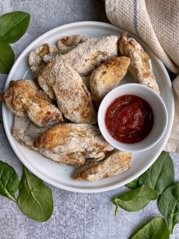 cassava-flour-chicken-tenders-with-ketchup