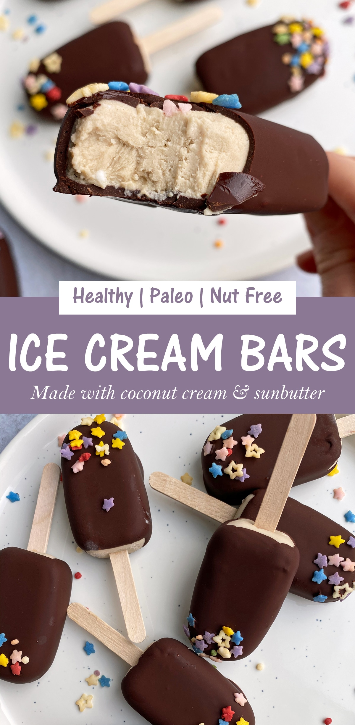 paleo ice cream bar pinterest image