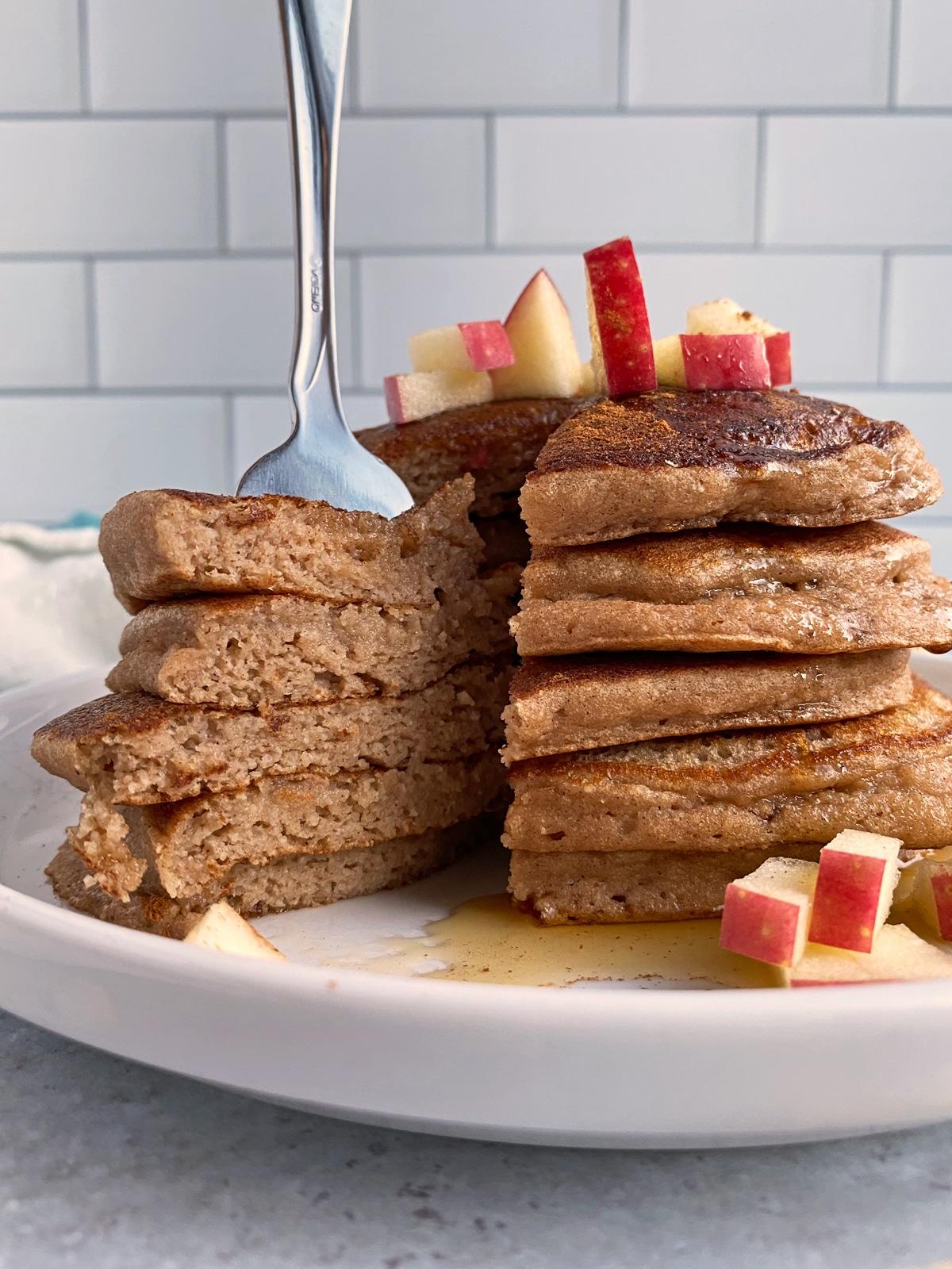 bite-of-moist-cinnamon-apple-pancakes