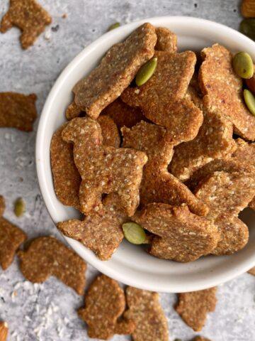 top view of paleo graham crackers