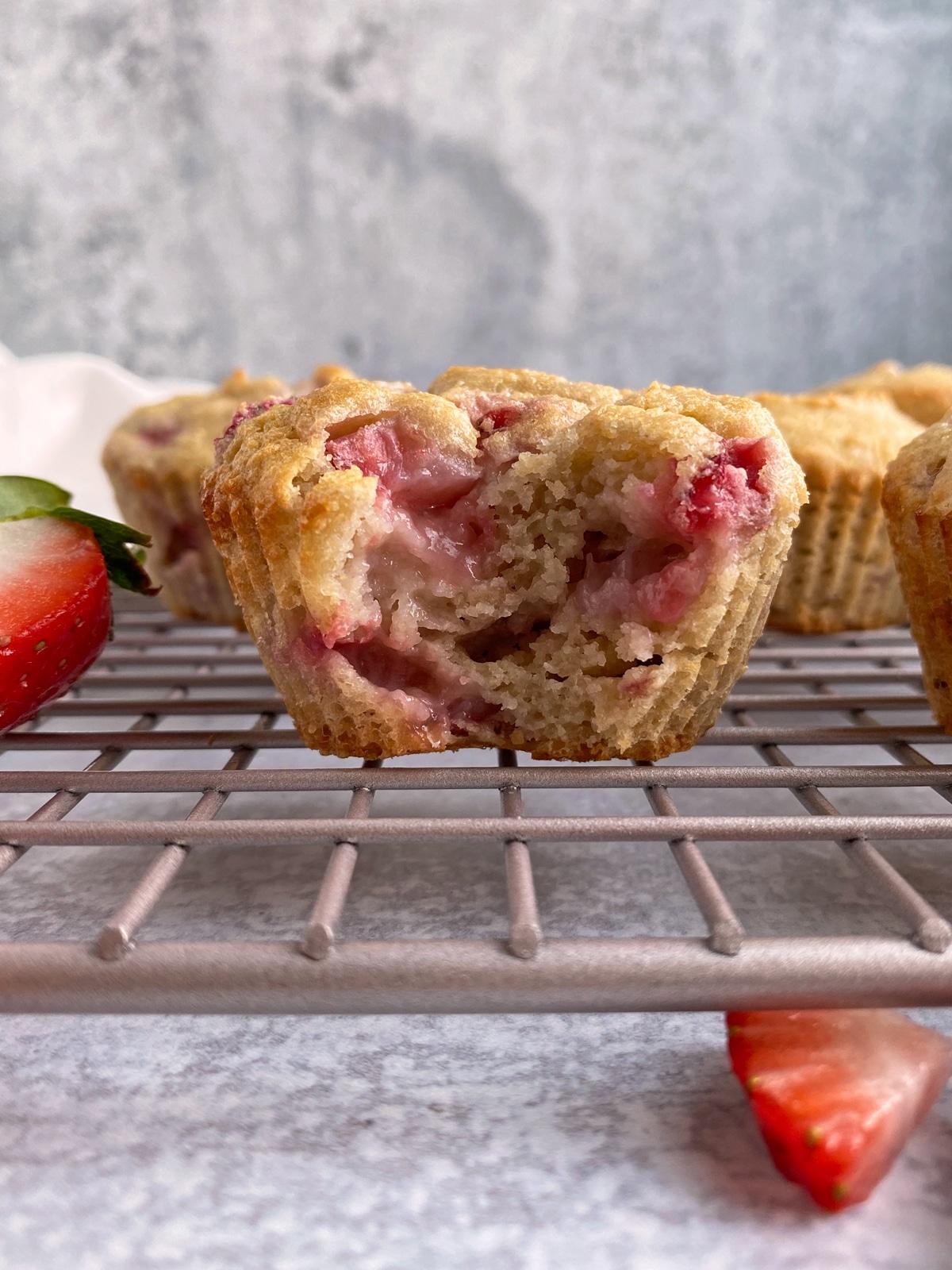 bite of muffin