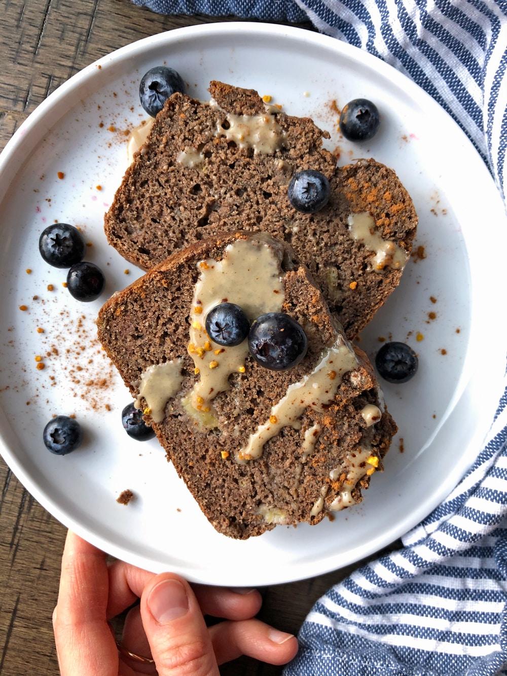 Unsweetened-Buckwheat-Banana-Bread