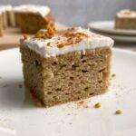 slice of zucchini cake
