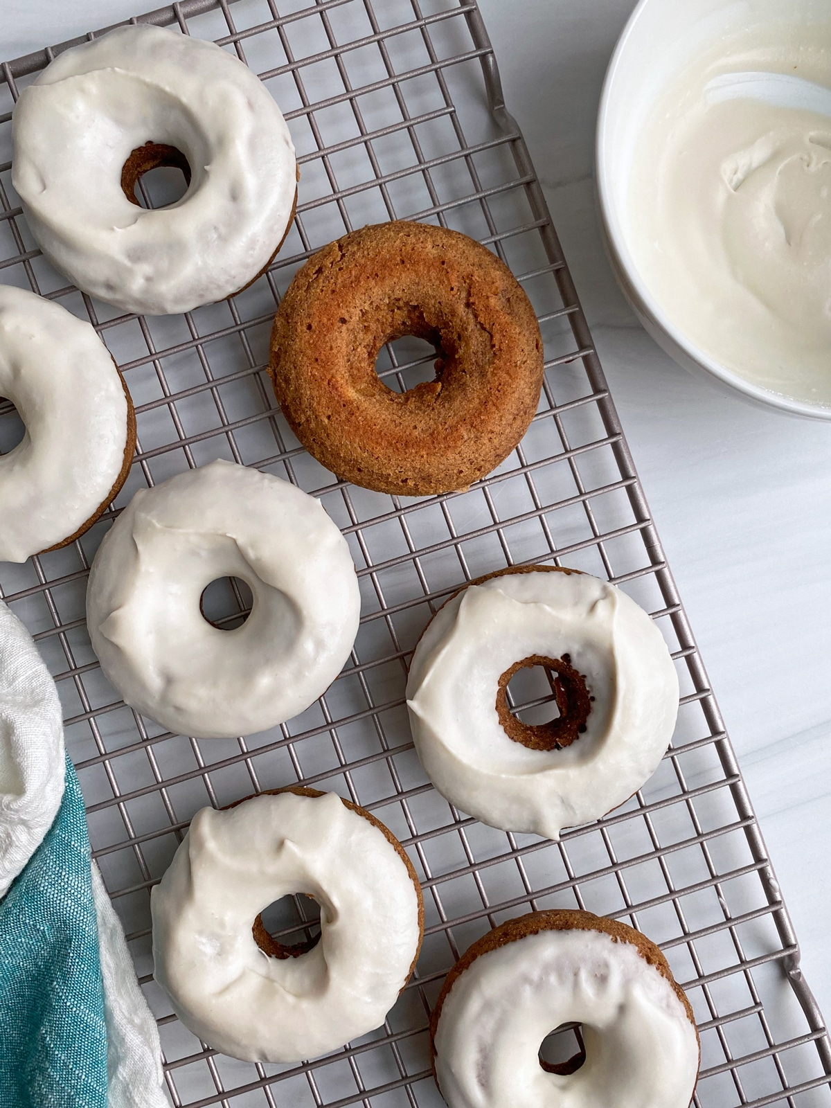 icing-the-banana-donuts