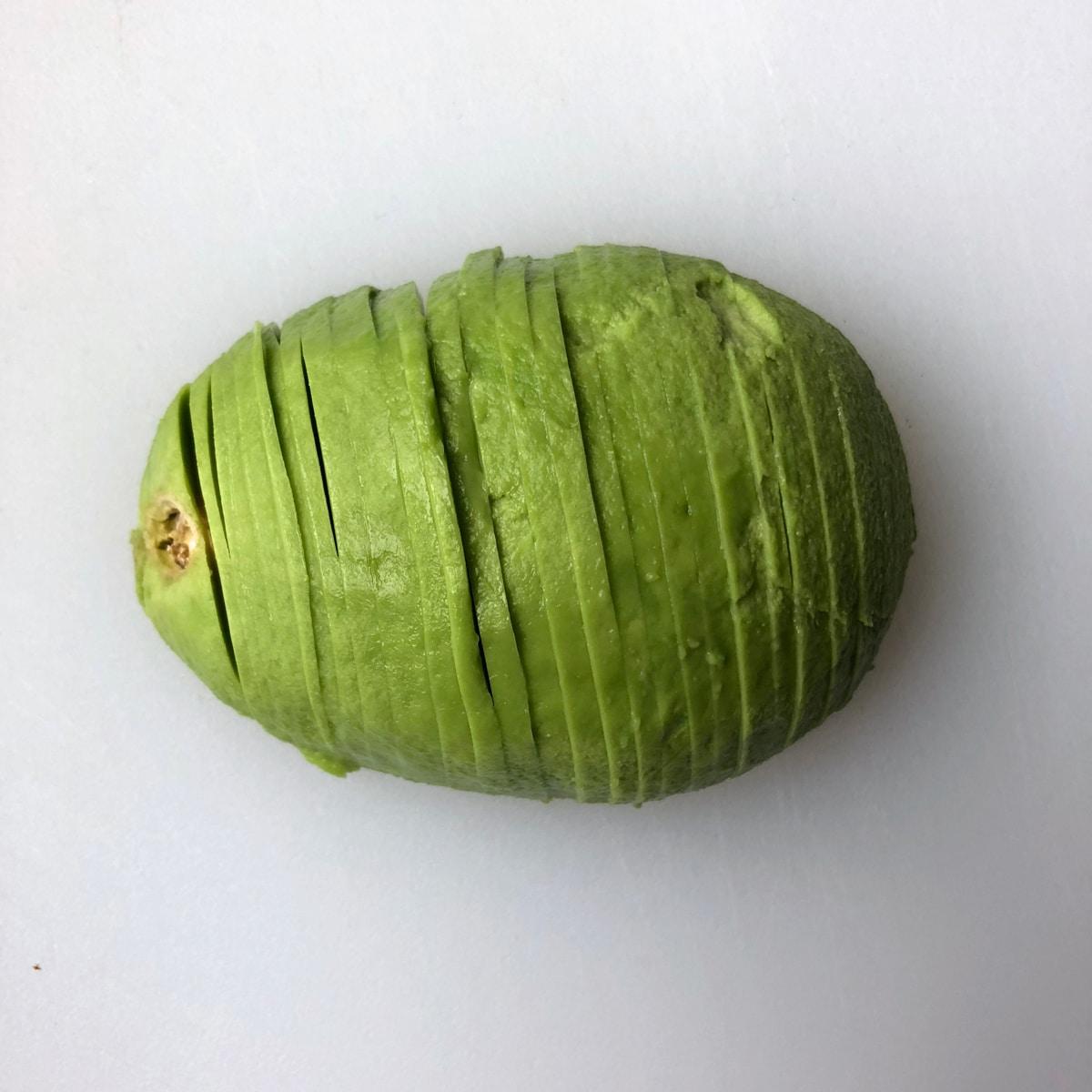 photo of sliced avocado