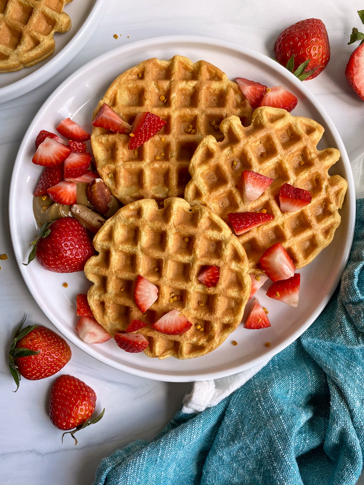 vanilla-protein-waffles-top-view