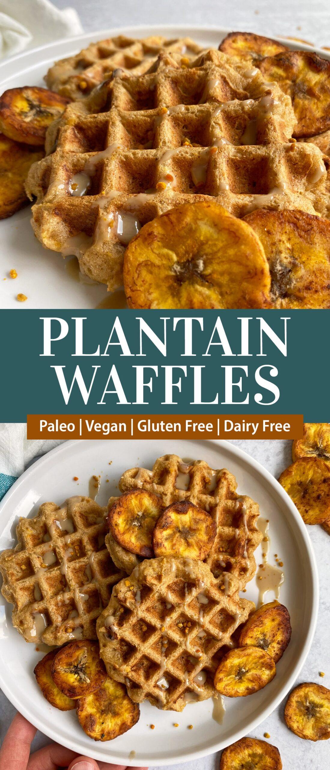 plantain waffles pinterest image