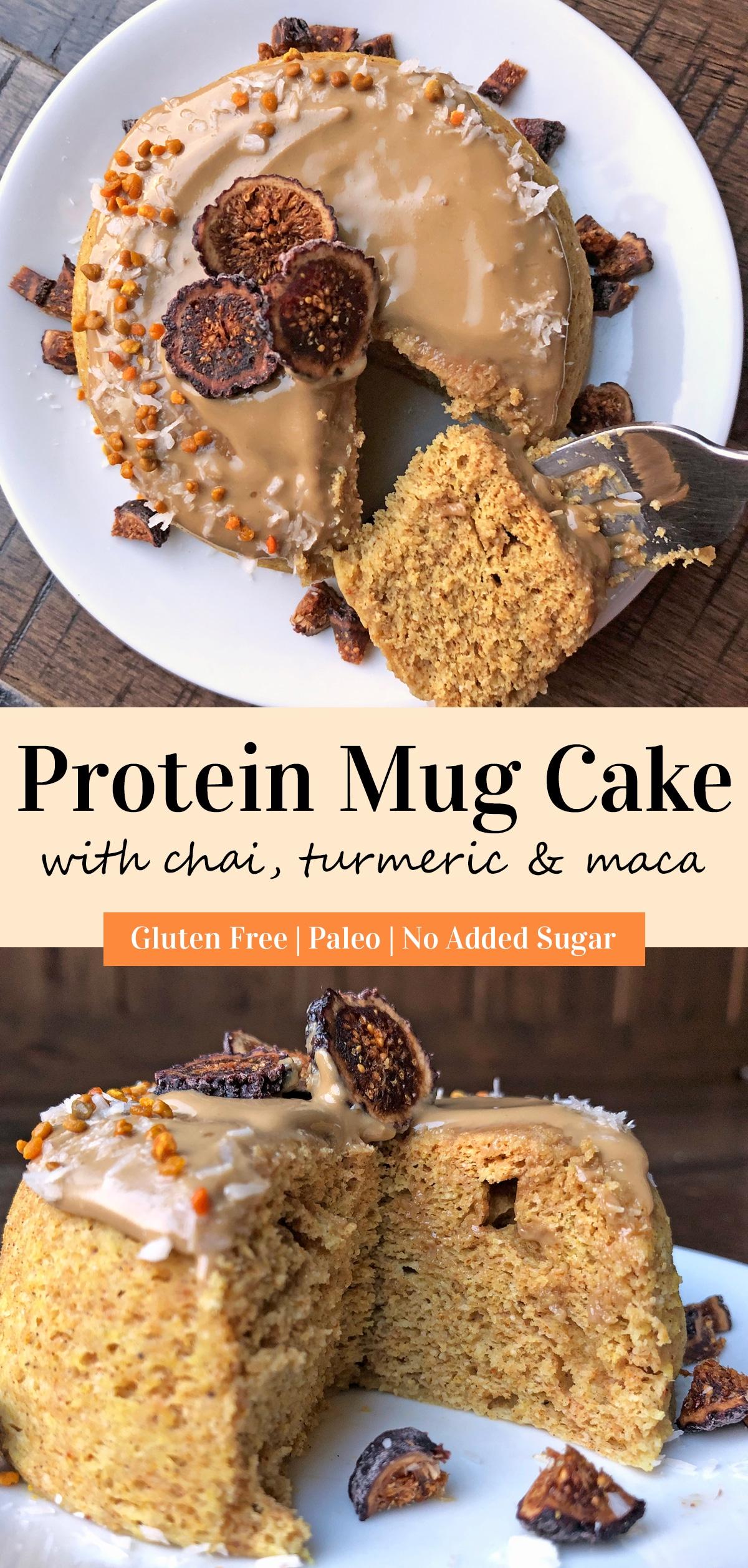 protein-mug-cake-with-chai-turmeric-and-maca-pinterest-image
