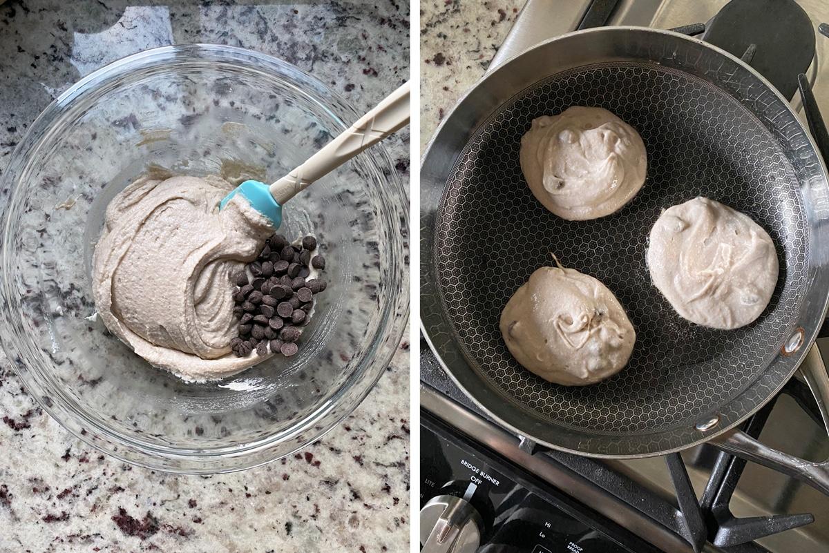 making-buckwheat-pancakes