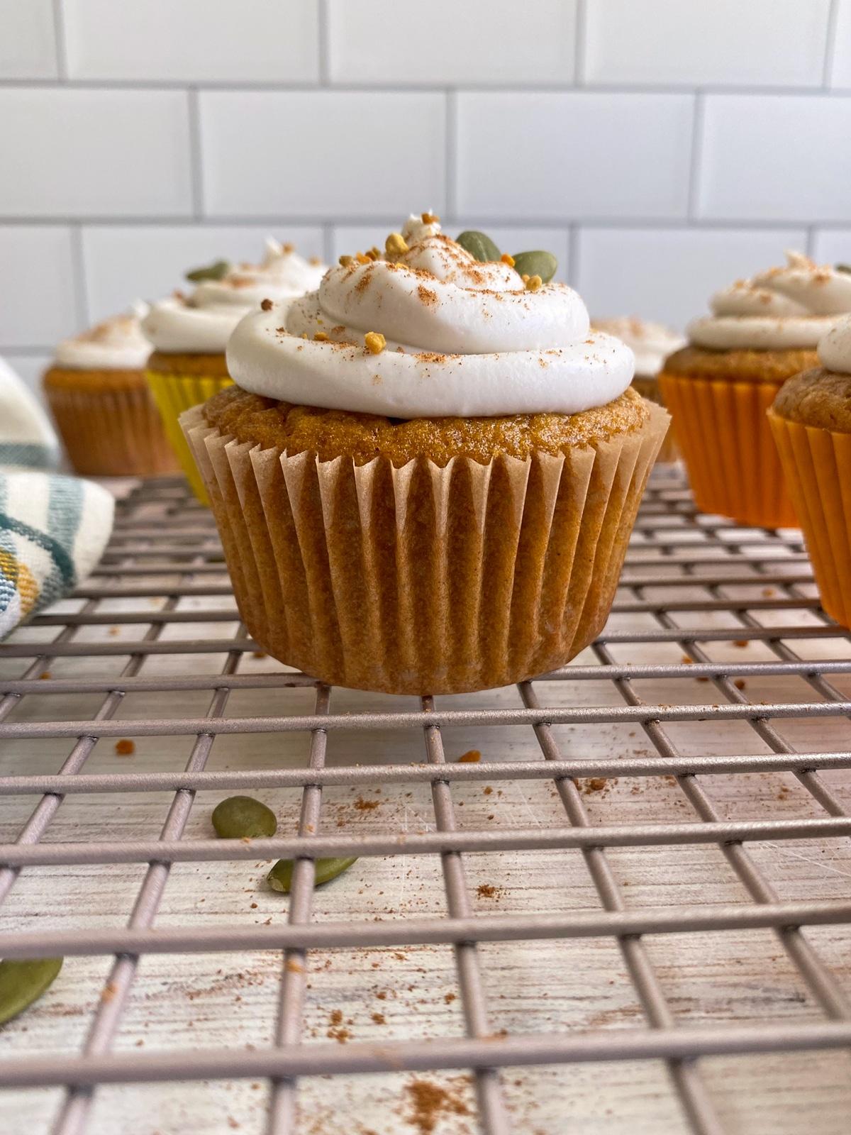 pumpkin-cassava-flour-cupcakes