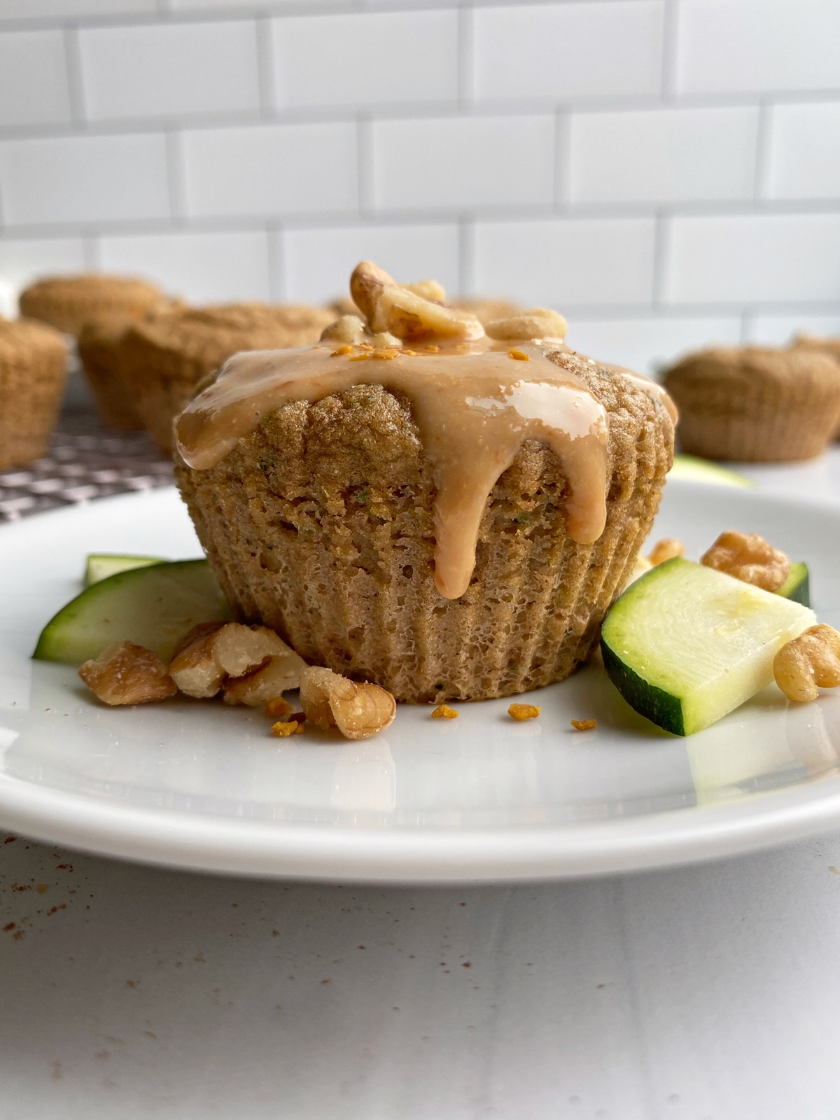 zucchini-muffin-topped-with-coconut-butter