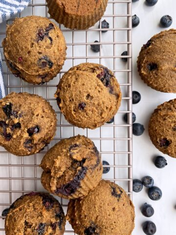 tigernut muffins on wire cooling rack