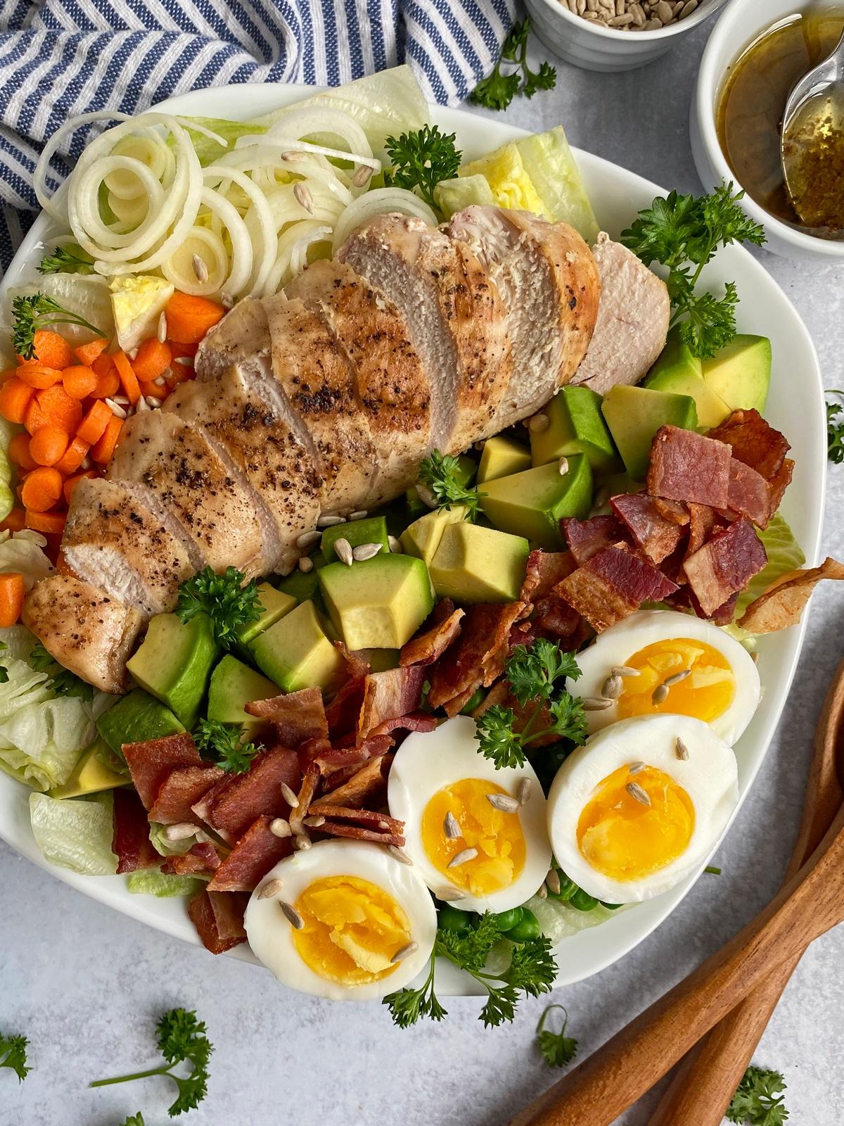 close up of cobb salad