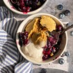 spoonful of blueberry cobbler