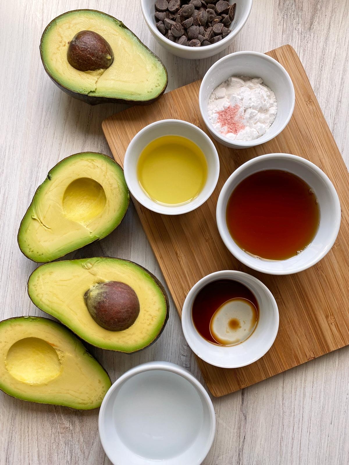 ingredients in avocado ice cream