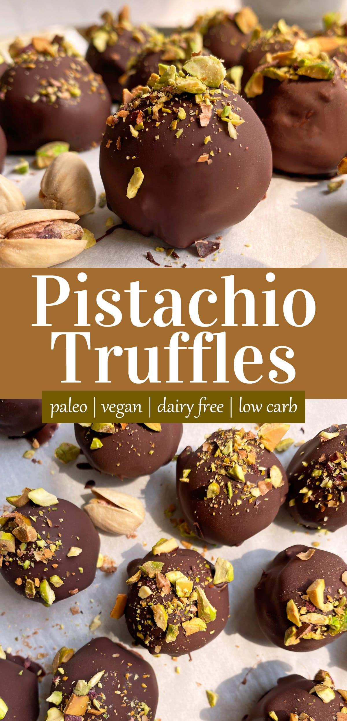 pistachio truffles pinterest image