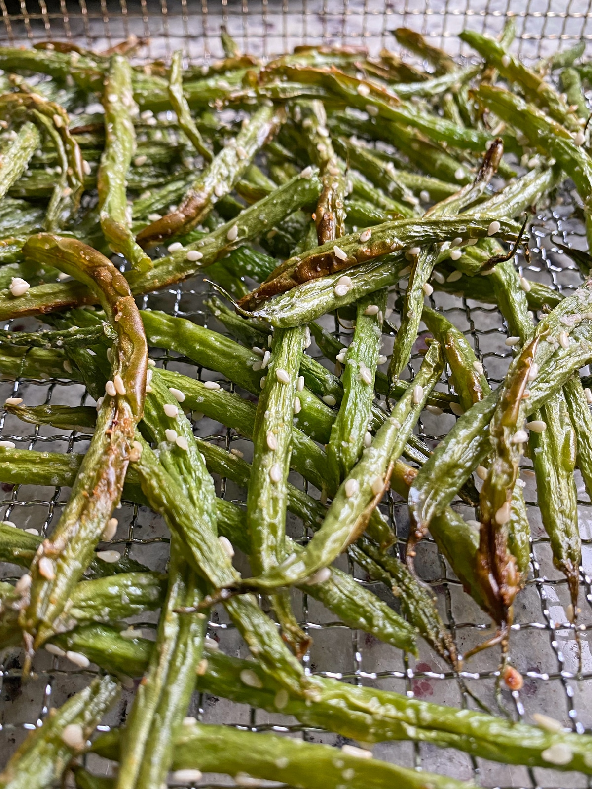 cooked paleo sesame green beans