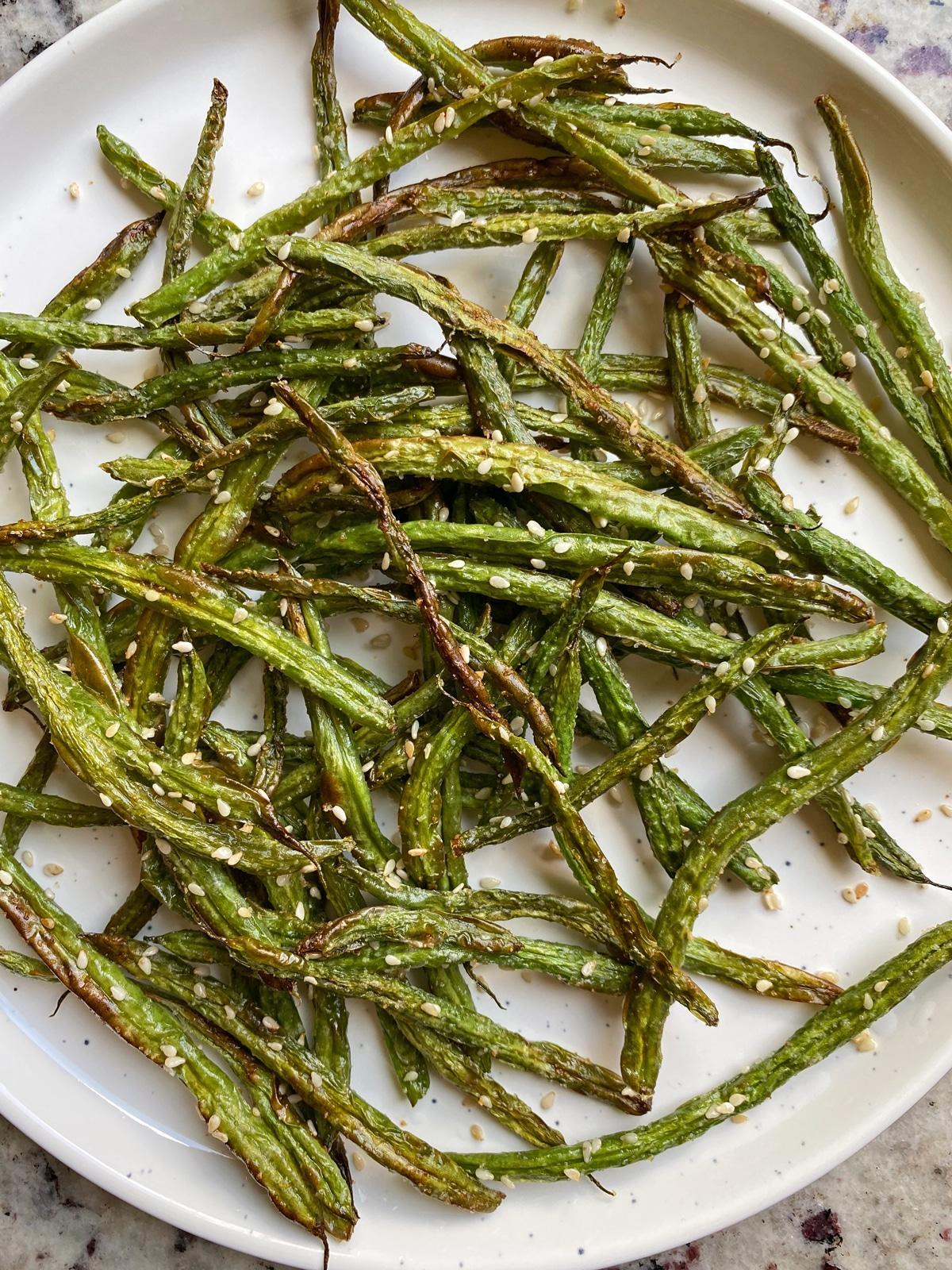 crispy sesame green beans
