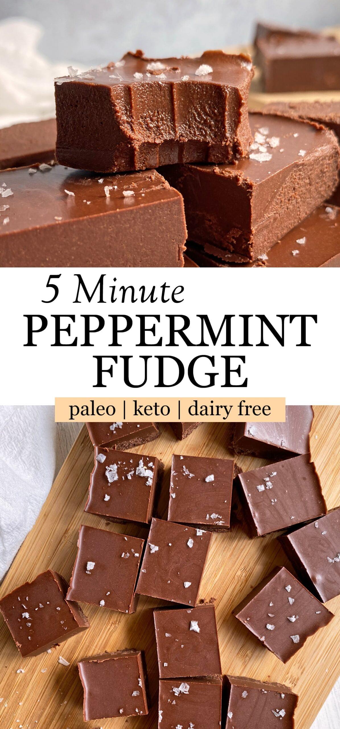 peppermint fudge pinterest image