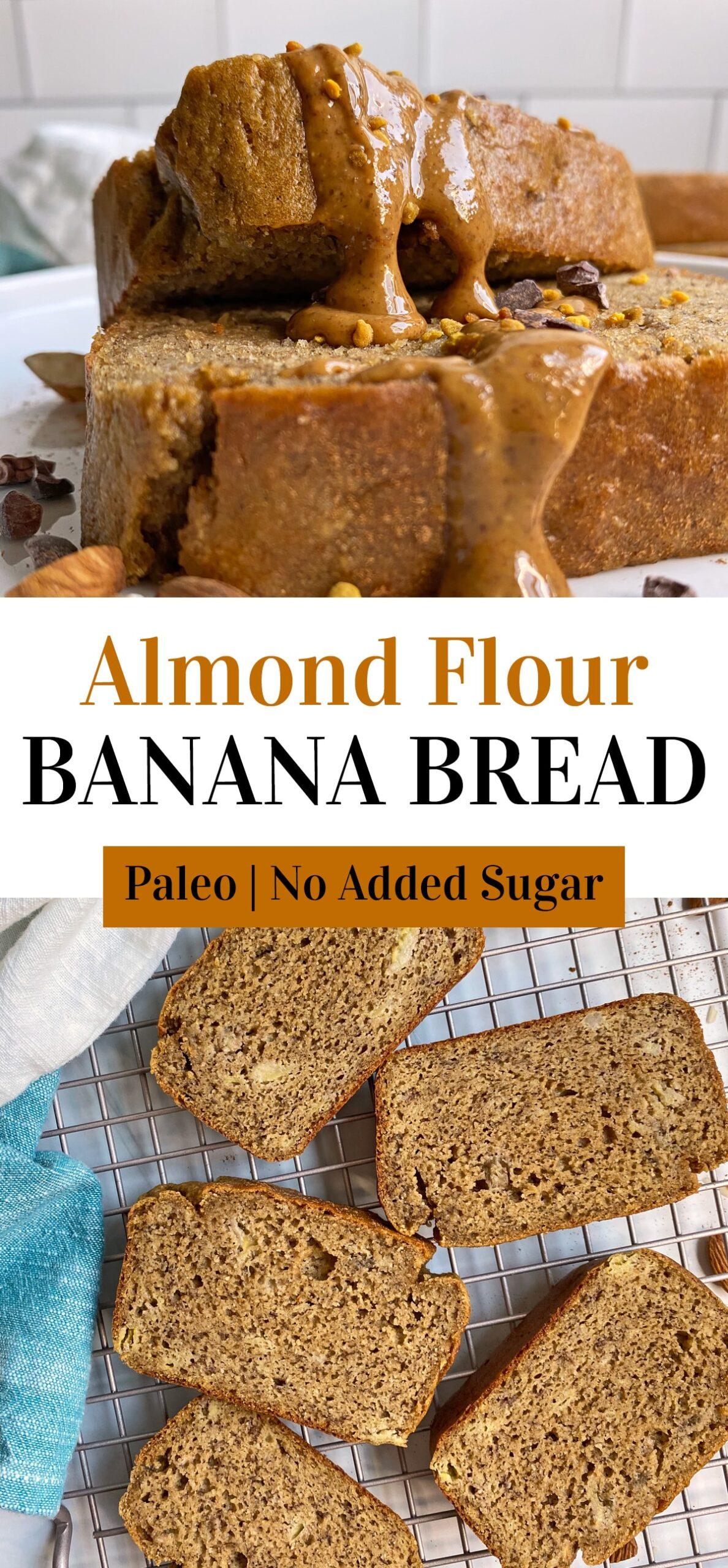 almond flour banana bread pinterest image