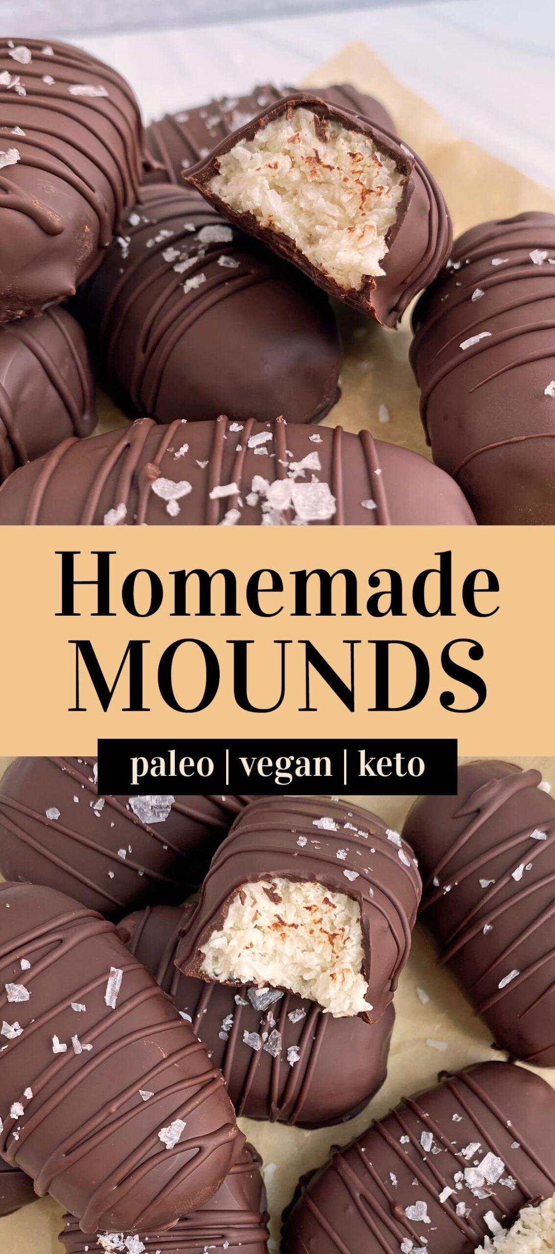 homemade mounds bars pinterest image