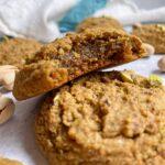 bite of pistachio cookie