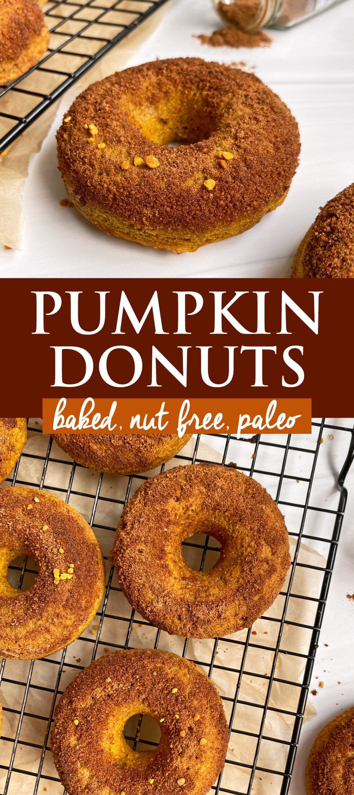 pumpkin donut pinterest image